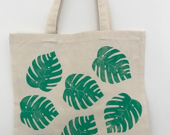 Philodendron Leaves Tote Bag