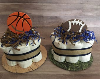 Sports Mini Diaper Cakes for Judy