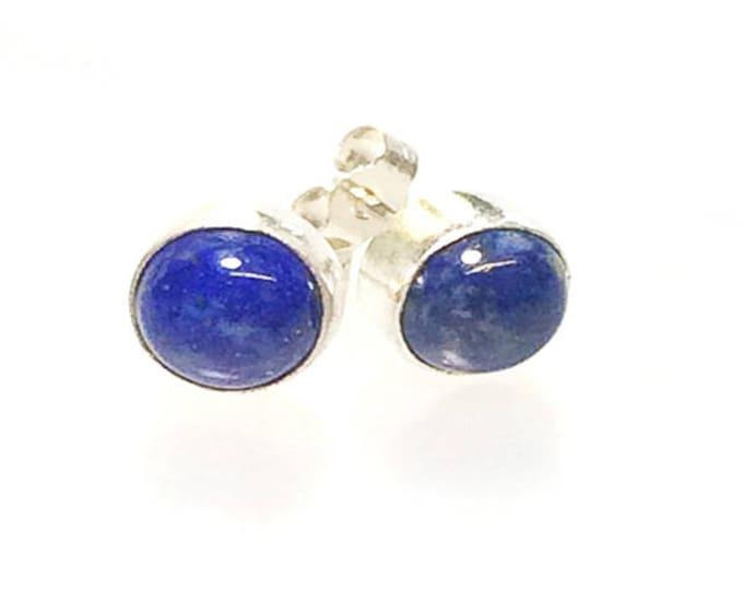 Lapis Lazuli Stud Earrings