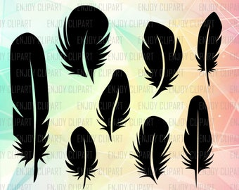Feather Svg, Feather Clipart, Feather Decal, Feather Png, Cricut Designs, Cricut Svg, Silhouette Cameo Files, Clipart Svg, Svg Designs, Dxf