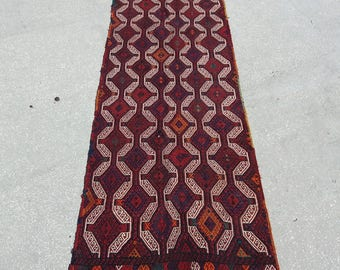 Oushak Runner Rug,Turkish Vintage Runner Rug,2'8''x9'3''Feet,Area Rug,Turkish Carpet,Anatolian Runner Rug,Home Living,Kilim Runner Rug,Rugs,