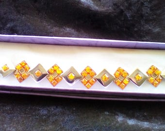 Sterling Silver and Cognac Baltic Amber Bracelet