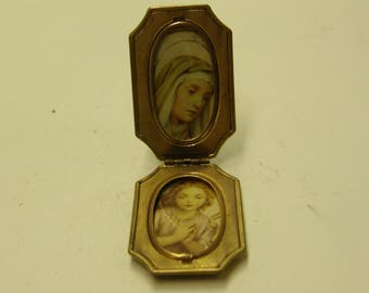Antique Gold Filled Religious Filigree Locket