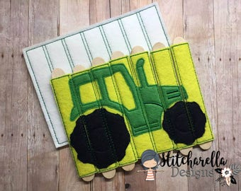 Green Tractor Stick Puzzle