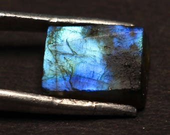 Amazing Natural Labradorite Gemstone Rough Blue Fire 9.70Cts. Size 10.4 X 13.10 X 6 Code MGJ 221 lowest Price