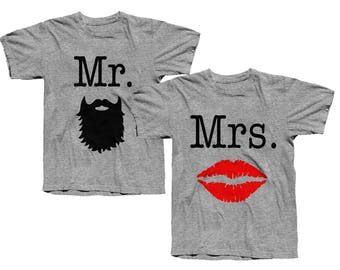 Mr. and Mrs. COMBO Tees - His and Hers - Matching Shirts