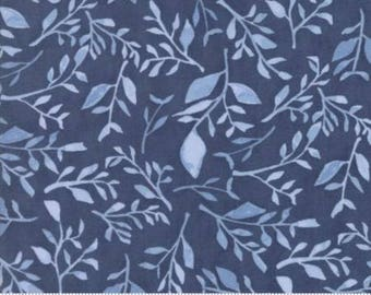 Moda//Hazelwood//Evening//Blue Floral//Blue on Blue//Tone on Tone//Premium Quilting Cotton//100% Cotton//One Canoe Two//36011 16//LWF