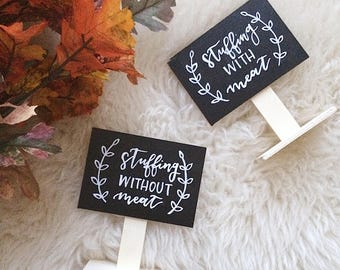 Mini Standing Chalkboard | Food Chalkboard Signs | Dessert Chalkboard Signs | Wedding Chalkboard | Holiday Party Chalkboard