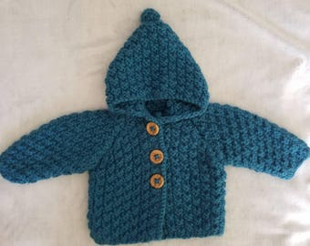 Blue Boy 6 month baby hooded coat
