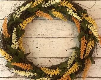 Fall Wreath, Harvest Wreath, Autumn Wreath