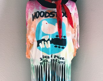 Distressed and Bleached Woodstock T-Shirt