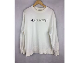 CONVERSE Long Sleeve Sweatshirt With Big Spell Out Logo Extra Large Size