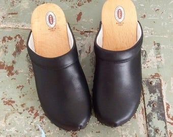 Hoof ' 70s black leather Dr Sholl nr 38