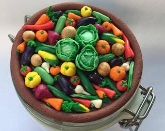 Vegetable jar for kitchen.
