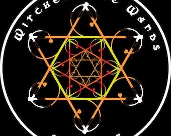 Wandala - Levitation Wand / Levi Wand / Flow Wand Mandala Vinyl Sticker - Witches Love Wands