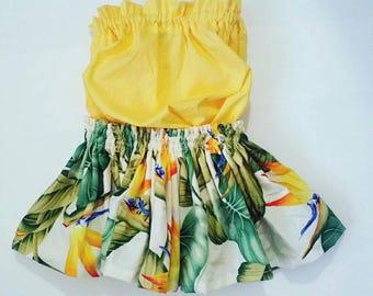 kids hawaiian hula skirt, girls hula dress outfit, toddler/baby luau outfits, girls luau outfit, 2 piece set hula skirt, kids clothes