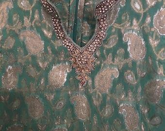 Vintage Brocade Tunic Mini Dress