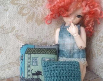 "Pillow for dollhouse ""Blue"""