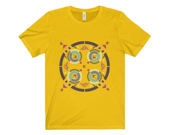 Art Deco Design Unisex Jersey Short Sleeve Tee