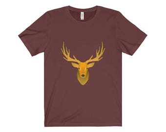Golden Deer Design Unisex Jersey Short Sleeve Tee