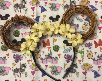 Disney Inspired Floral Mickey Ears
