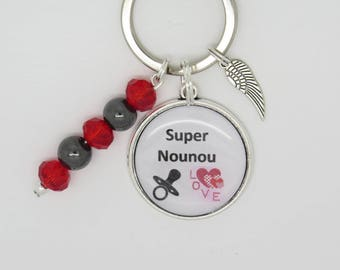 PERSONALIZED KEYCHAIN or gift for a nanny bag charm