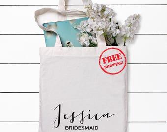 Bridesmaid Totes, Bridesmaid Gifts, Charcoal Totes, Gray Totes, Bridal Party Gift, Bridesmaid Tote Bag, Personalized Wedding Bag, Bridesmaid