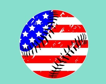 Baseball flag svg Distressed American flag svg Baseball svg Softball svg Baseball Mom svg files for Cricut svg Silhouette svg dxf png eps
