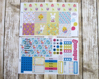Hoppy Easter Weekly, MINI HAPPY PLANNER, Easter weekly kit, spring weekly