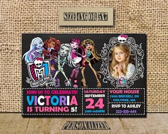Monster High Invitation / Monster High Birthday / Monster Birthday Invite / Monster High Party / Monster High Party Invite / Monster High