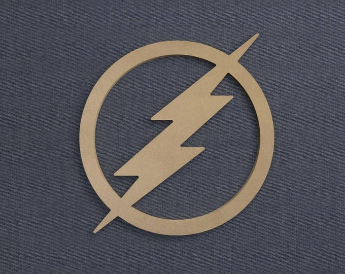 Featured listing image: Flash Symbol, Wood Cutout, Unfinished Sign
