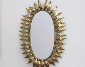 Spanish Gilt Metal Sunburst Mirror (c. 1960s)