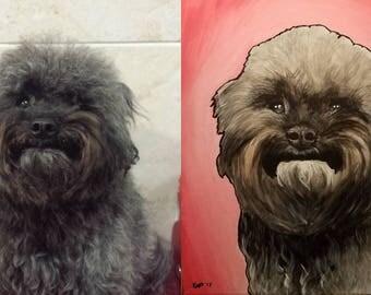 Custom 8x10 Acrylic Pet Painting