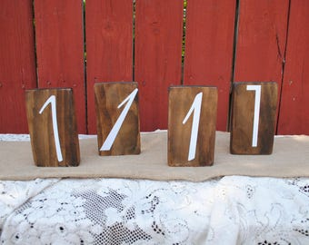 Real Wood Wedding -  Wedding Table Number Set of 18