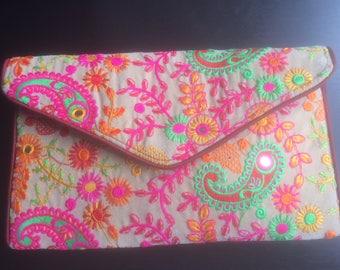 Embroidered Clutch Purse,Boho clutch, Gypsy Clutch, Tribal Clutch,Banjara clutch, Vintage Clutch