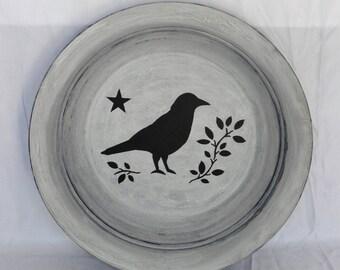 Primitive Black Crow Decorative Bowl
