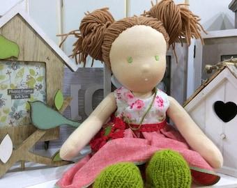 "Custom Waldorf doll - 14"" Ready to ship"