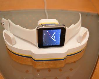 Apple Watch Dock charging station IDOQQ watch stand Cradle docking station for Apple Watch stand wood gift