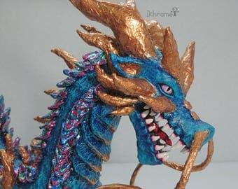 Cardboard statue of Asian Dragon figure
