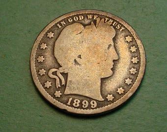 Barber Quarter 1899-O Good<> # ET3875