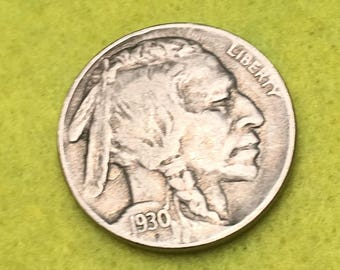 1930-S Indian Head Nickle Original Type 1 XF<> Coin you see is Coin you get / Free S&H on this order  <>#BCE-539