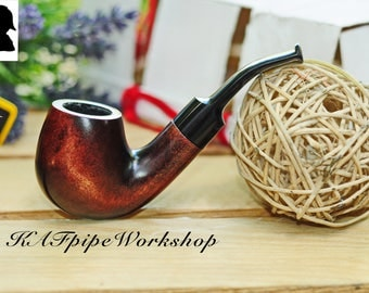 "New Tobacco Smoking pipe ""Sherlock Holmes"" KAF226/Wooden Sherlock pipe/Handmade pipe/Bent Volcano/Tabakpfeife/ringard/pipa/Ukrainian pipe"