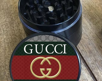 Gucci Gvng gang 4 part custom herb grinder. Full color 3d imprint. Not a sticker. designer trap grinder!