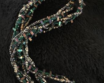 Braided Multicolor Necklace