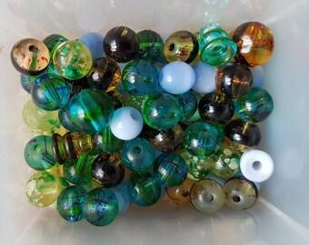 set of plastic beads