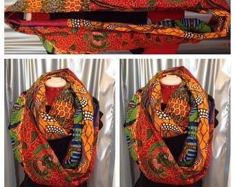 Ankara infinity scarf, snood