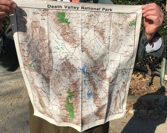Cloth map of Death Valley National Park