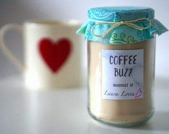 Coffee Scented Candle - Soy Wax Eco-friendly Candle - Upcycled Candle