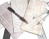Architect Junk Journal set of 3 - Junk Journal - Journal Insert - Traveler's Notebook Insert - Ephemera Book - Sketch Book - Note Book