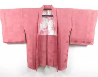 Ultimate chic Japanese Haori Kimono Coat with Family Crest.